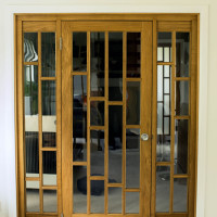 View Bespoke Oak Room Divider And Doors
