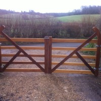View Wooden gates