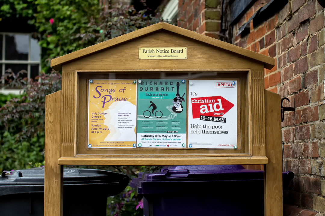 Bespoke Joinery Hertfordshire - Noticeboard