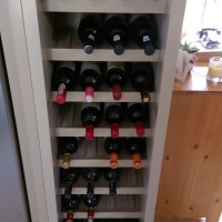 Wine rack bespoke joinery