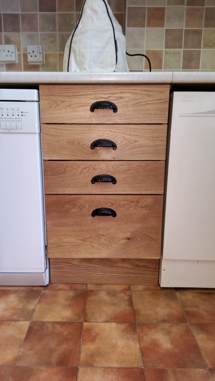 Bespoke oak kitchen drawers, joiners Hertfordshire
