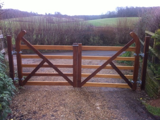Double Bar Wooden Gates, Waterhall Joinery Ltd