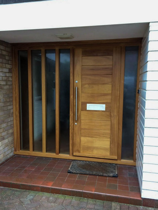 Contemporary Iroko Door