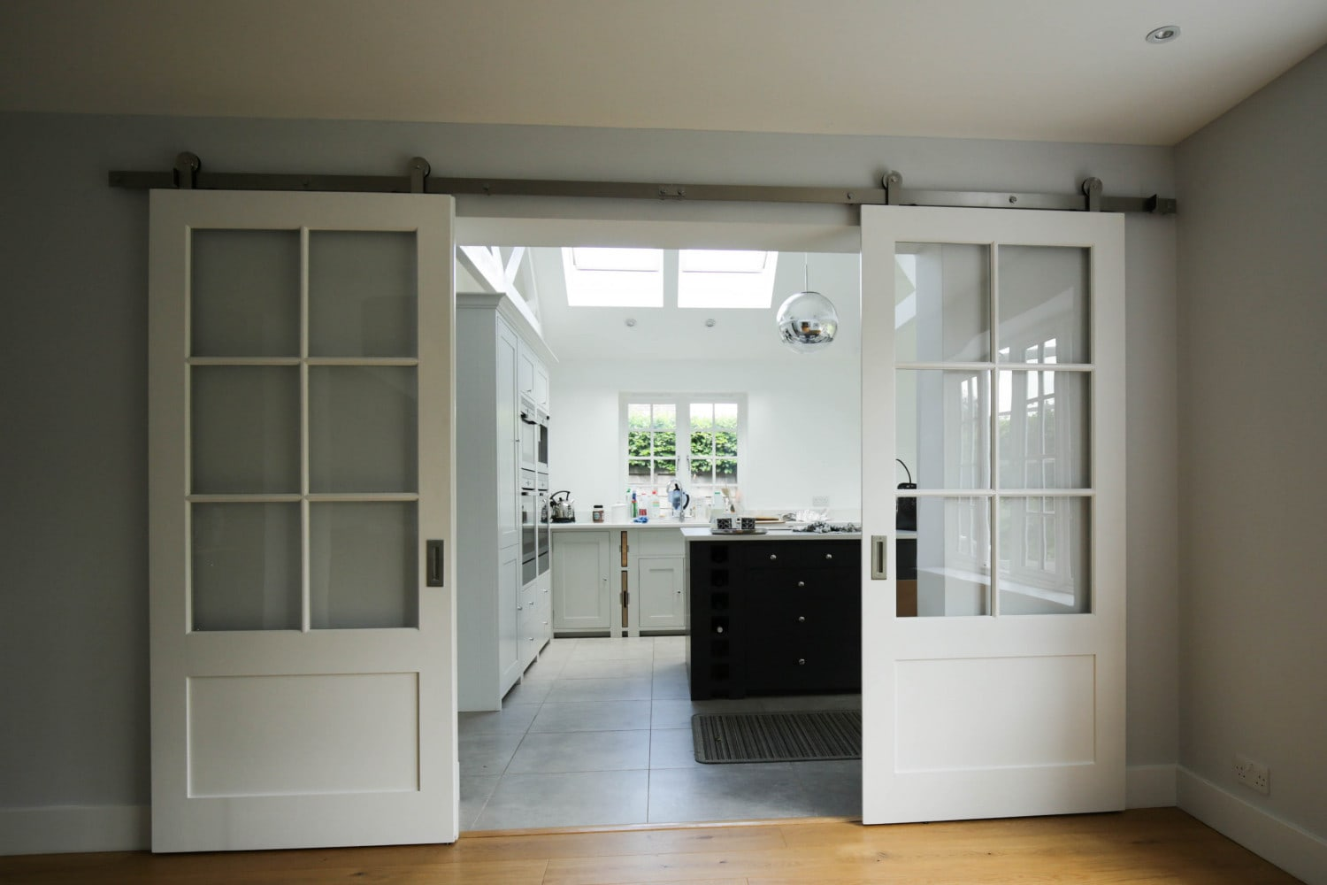 Open Sliding American Barn Doors, Waterhall Joinery Ltd, Hertfordshire