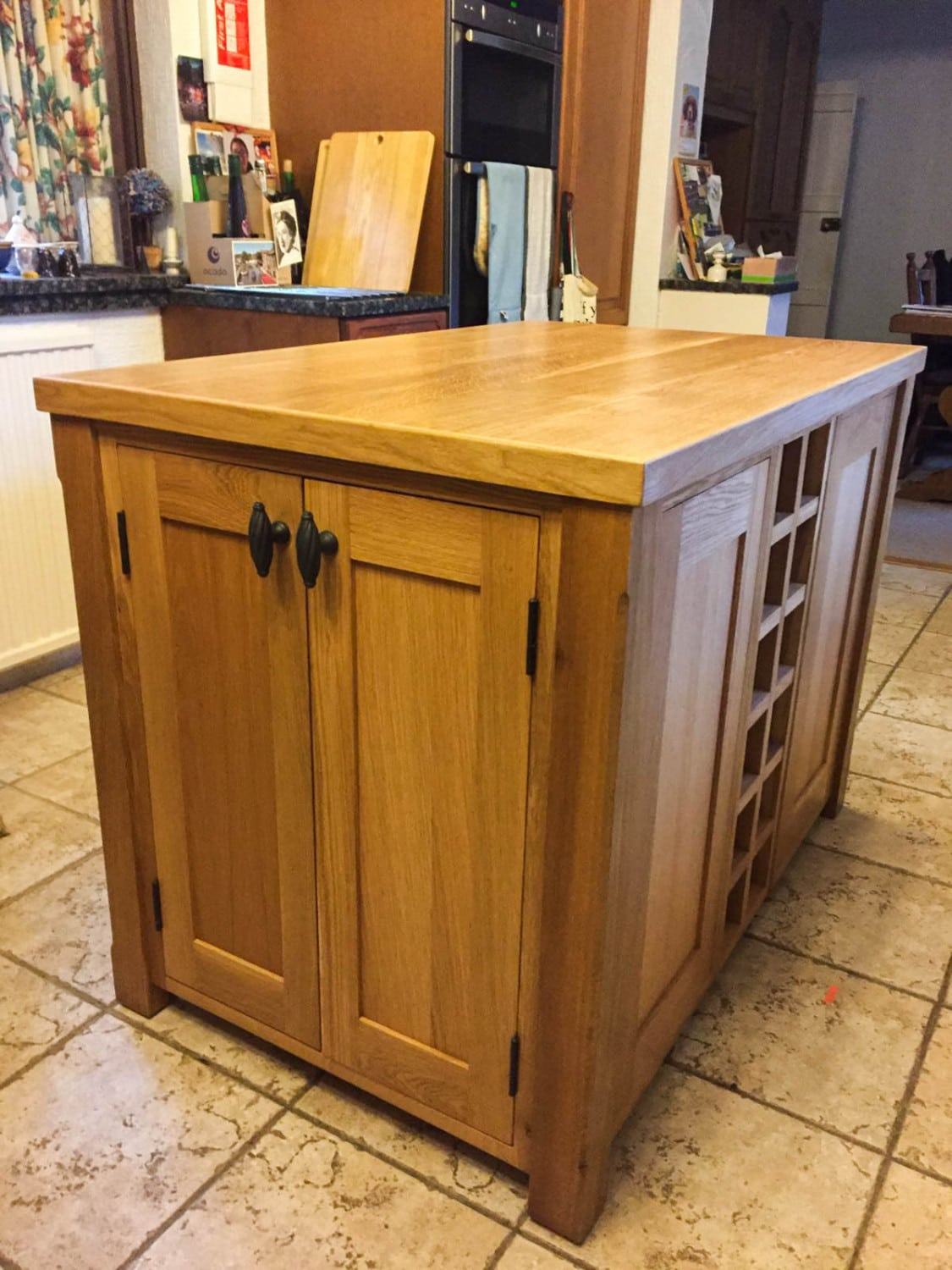 Solid Oak Kitchen Island Unit
