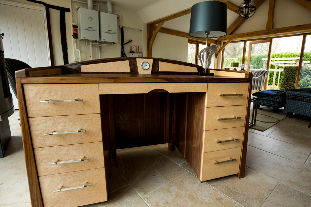 Front View Bespoke Desk, Waterhall Joinery Ltd, Hertfordshire