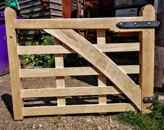 Oak Pedestrian Gate, Waterhall Joinery
