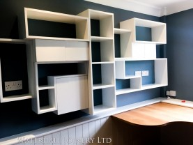 Bespoke shelving, Waterhall Joinery Ltd