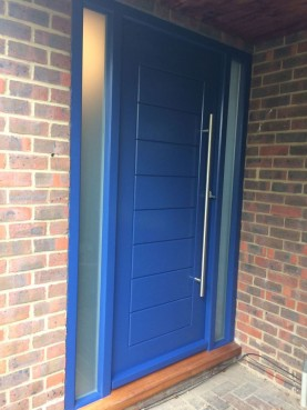 Wooden Door and glass panels, Waterhall Joinery Ltd