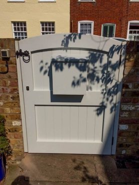 Gate with letterbox, Waterhall Joinery Ltd