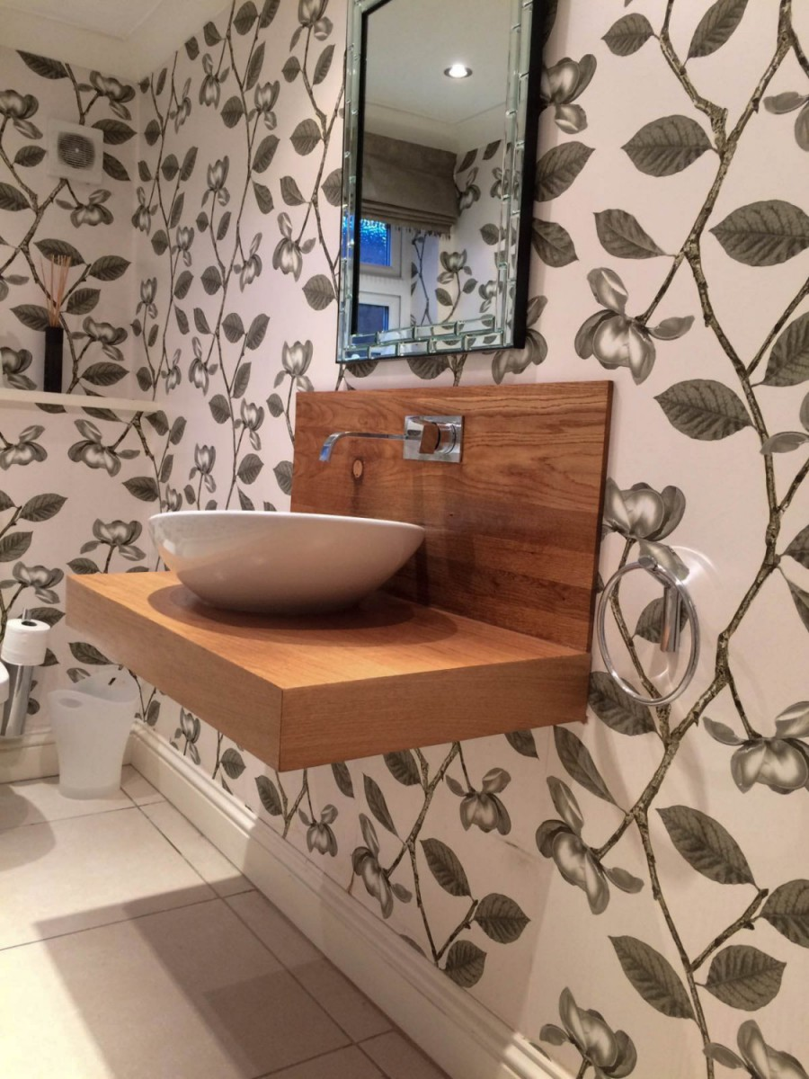bathroom sink shelves floating oak floating sink shelf waterhall joinery ltd 16561