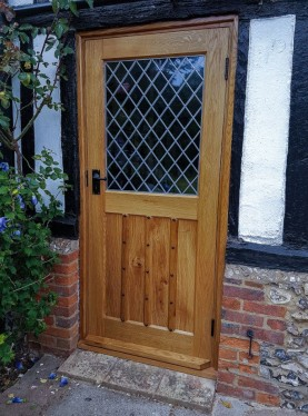 Studded Oak External Door, Waterhall Joinery Ltd, Hertfordshire