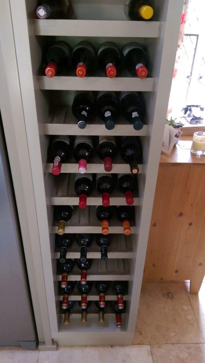 Wine rack bespoke joinery