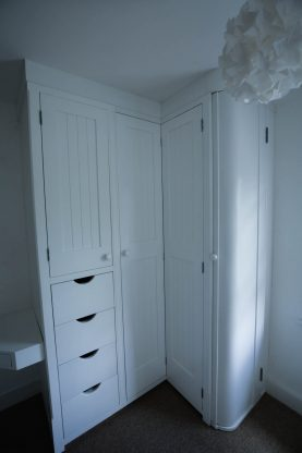 Fitted Corner Wardrobe, Waterhall Joinery Ltd, Bespoke Joiners