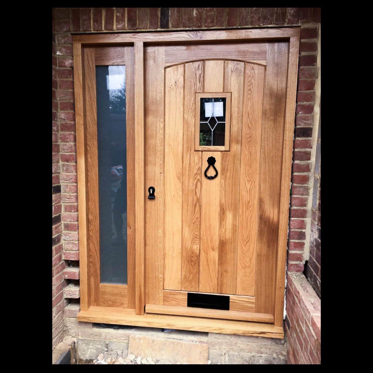 Oak door and side pane, Waterhall Joinery Ltd