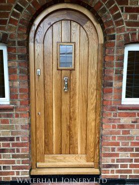 Arched Oak Front Door, Waterhall Joinery Ltd